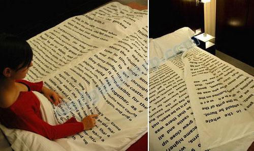 Sheets and Pages: Readable Book of Hotel Bedcovers