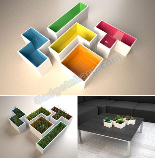 Tetris Pots: Plant & Play
