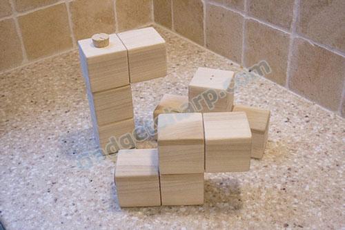 Tetris Salt and Pepper Shaker Set For Table Top Timepass