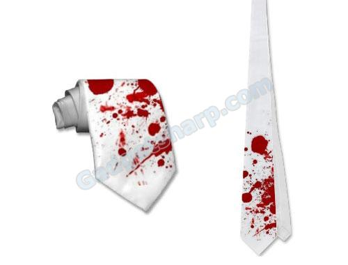 Blood Spattered Tie