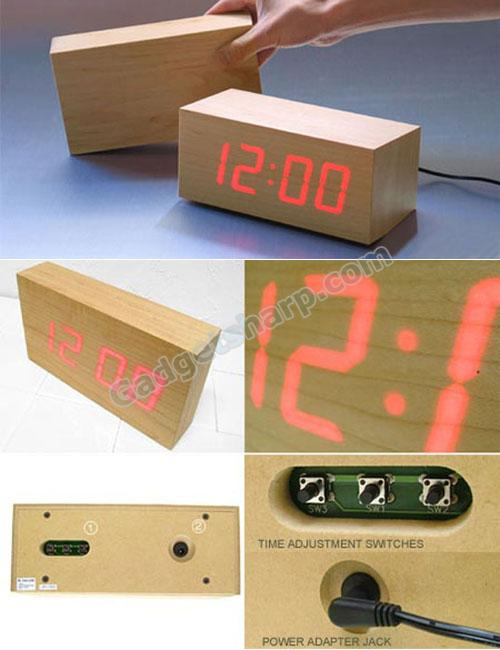 Wooden LED clock