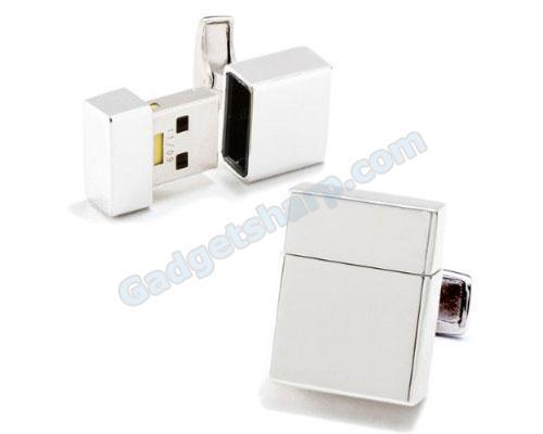 2GB USB Flash Drive USB Silver Cufflinks