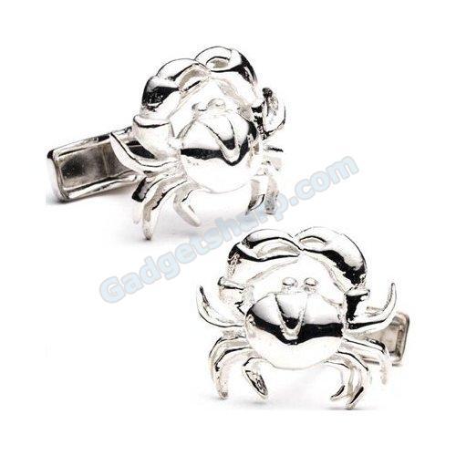 Crab Cufflinks Silver