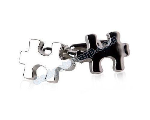 Jigsaw Puzzle Piece Cufflinks
