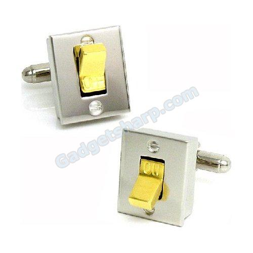 Light Switch Cufflinks Silver/Gold