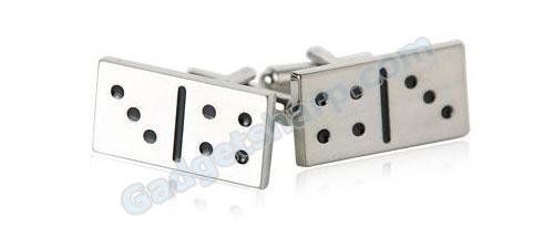 Domino Silver Cufflinks