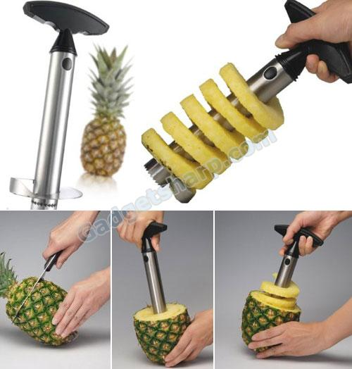 Vacu Vin Stainless Steel Pineapple Easy Slicer