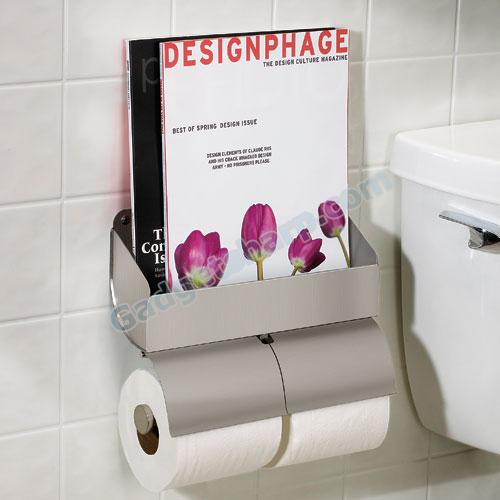 Umbra Bathmag Magazine and Double Toilet Paper Holder