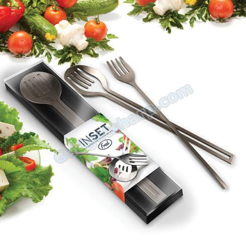 INSET - a perfect pair of salad servers