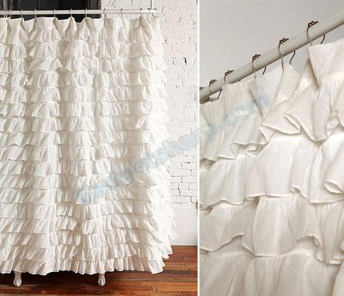 Waterfall Ruffle Shower Curtain