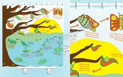 Metamorphosis Shower Curtain
