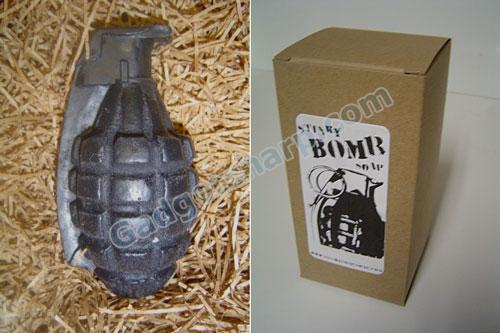 Hand grenade soap