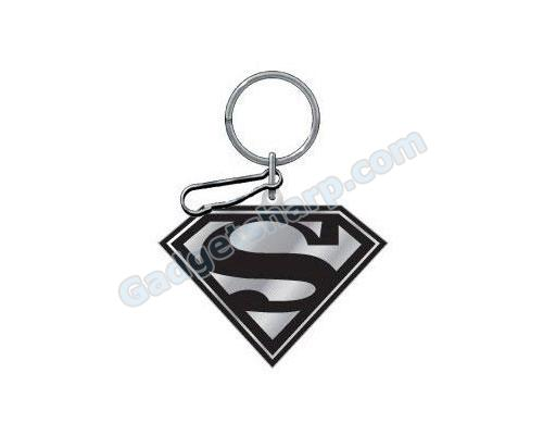 Black And Silver Superman Enamel Key Chain Key Chain