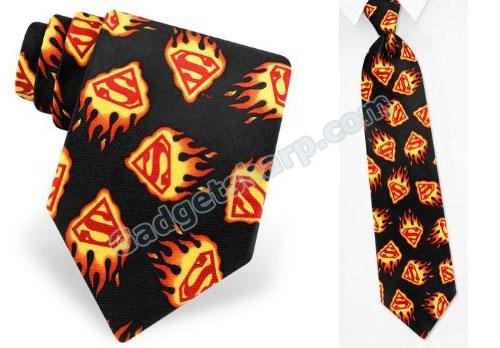 Superman Flame Logo Tie