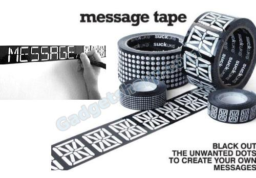 Message Tape - Black-out unwanted dots