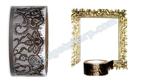 Black Lace decorative packing tape