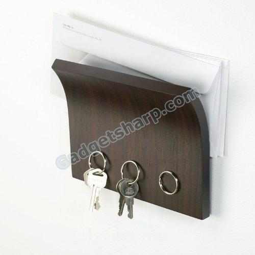 Magnetter Espresso Key & Letter Holder