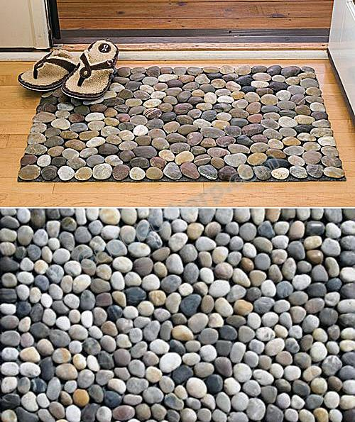 Natural Pebble Mat - Mixed Stone