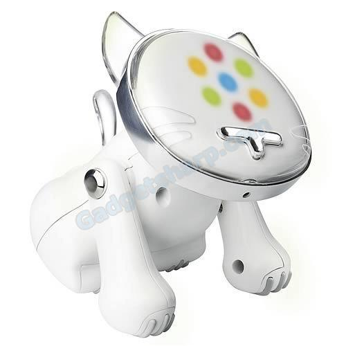 White-Hasbro i-Cat Robotic Music Loving Feline
