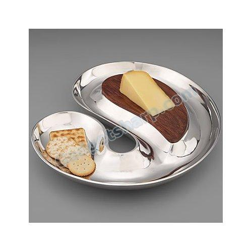 Nambe Morphik Cheese and Crackers Serving Tray