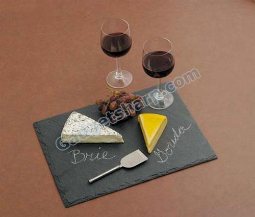 J.K. Adams VSR-1612 16-Inch by 12-Inch Slate Cheese Tray