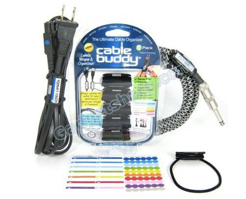 Cable Buddy - Cable Organizer Ties with Color Labels