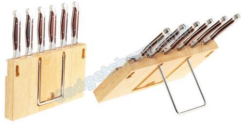 Gunter Wilhelm Cutlery 204 7-Piece Steak-Knife Set with Wooden Caddy