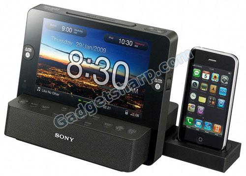 Sony Speaker Dock Clock Radio with 7-Inch LCD for iPod / iPhone