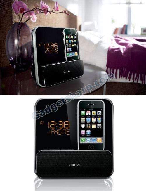 Philips DC315/37 Speaker System for iPod/iPhone with LED Clock Radio