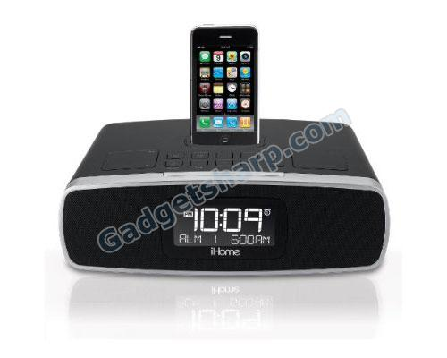 iHome iP90 Dual Alarm Clock Radio with AM/FM Presets and Dock for iPod and iPhone