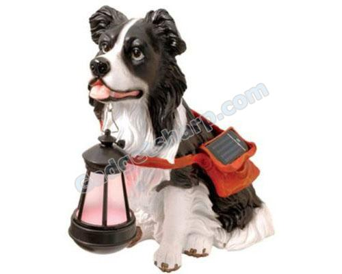 Solar Powered Glowing Dog Lamp Border Collie