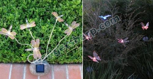 Decorative Garden Dragonflies Solar Lights