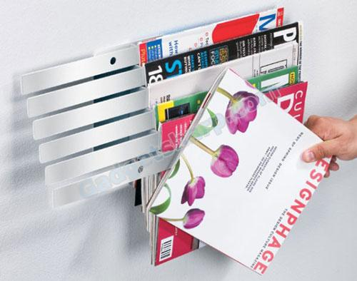 Illuzine Floating Magazine Rack