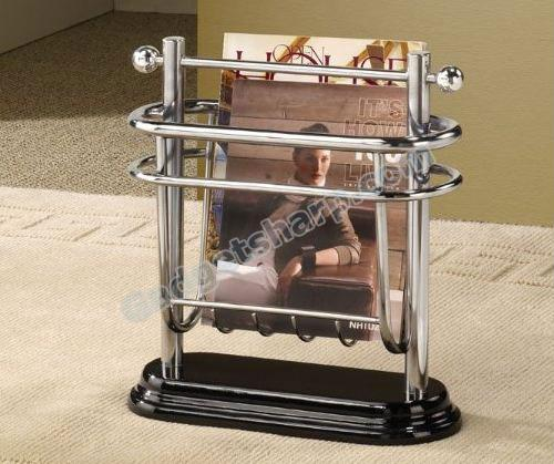Magazine Rack in chrome