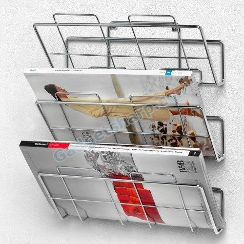 Spectrum 3-Tier Wall-Mount File Holder and Magazine Rack