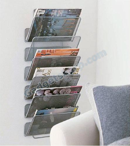 Mesh Magazine Rack - Wall Works - Large
