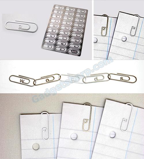 Alphabet Paperclips