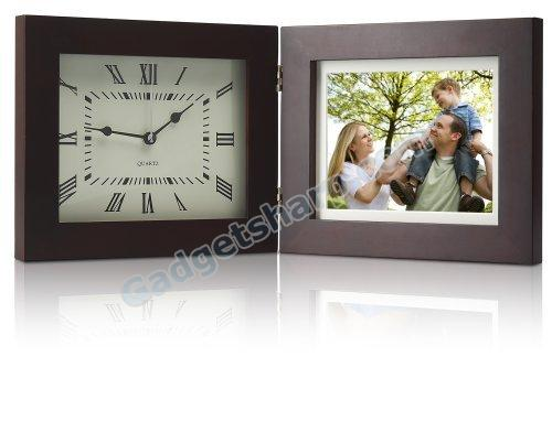 Coby Deluxe 8-Inch Digital Photo Frame and Clock with Multimedia Playback and 1 GB Built-in Memory