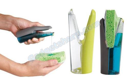 CleanGenuity Sudster Sponge Station with Soap Dispenser