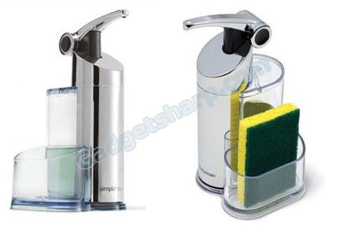 Push Pump, for Soap or Lotion, with Caddy