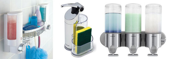 Innovative Shampoo/Soap Dispenser Designs