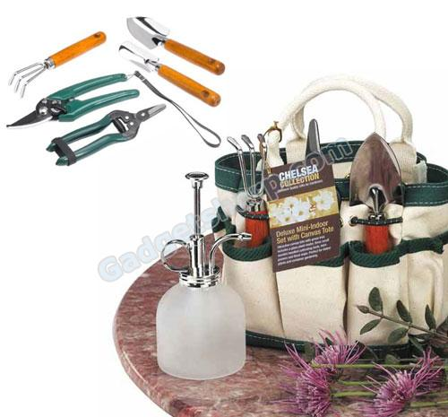 The Rumford Gardener Deluxe Indoor Garden Set with Mini Tote