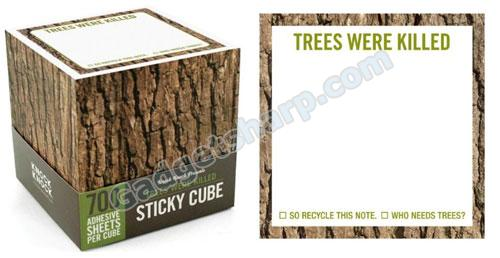 Knock Knock Sticky Note Pad Cube