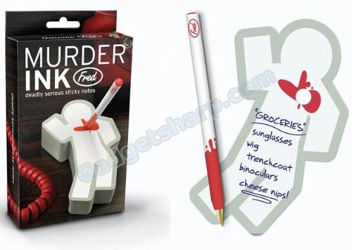 Murder Ink - deadly serious sticky notes