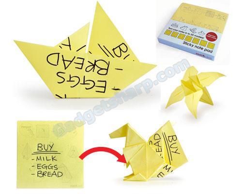Origami Sticky Notes!