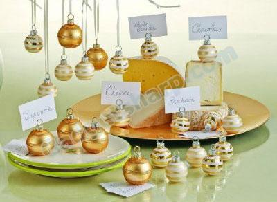 Christmas Ornament-shaped Place card Holders
