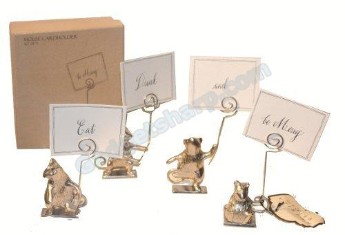 America Retold Antique Nickel Merry Mice Card Holders