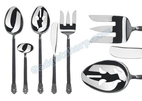 Gourmet Settings Avalon 5 pc Stainless Steel Hostess set