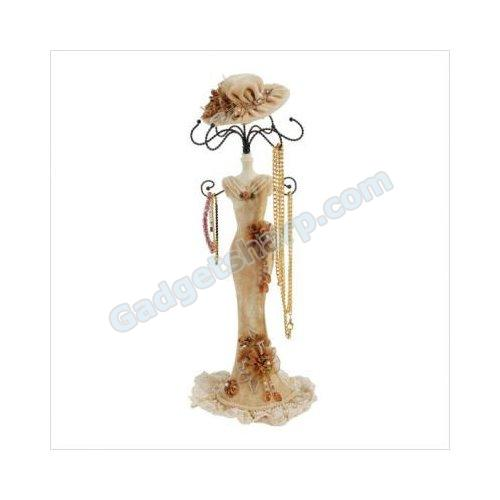 Cherie Victorian Lady Jewelry Stand in Tan