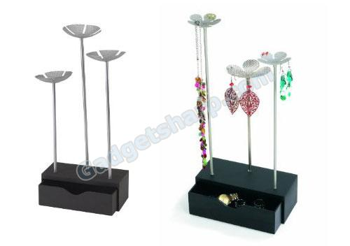 Umbra Daisybox Wood and Metal Jewelry Stand with Drawer
